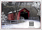 Season's Greeting Bridge - greeting-cards Maker