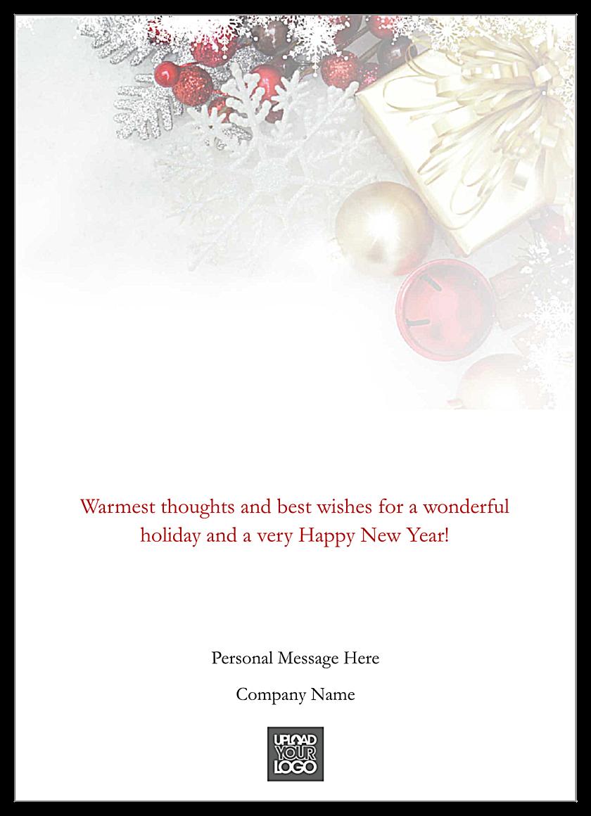 Golden Greetings back - Greeting Cards Maker