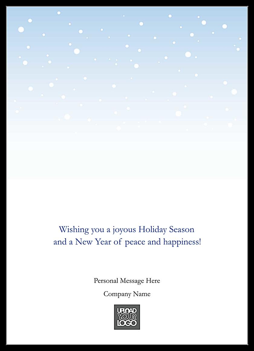 Blue Silver Holidays back - Greeting Cards Maker