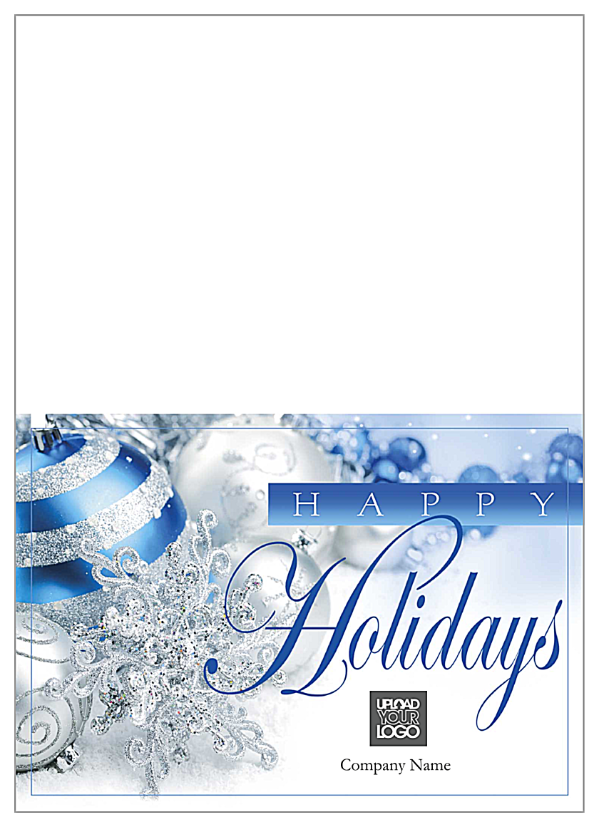 Blue Silver Holidays front - Greeting Cards Maker