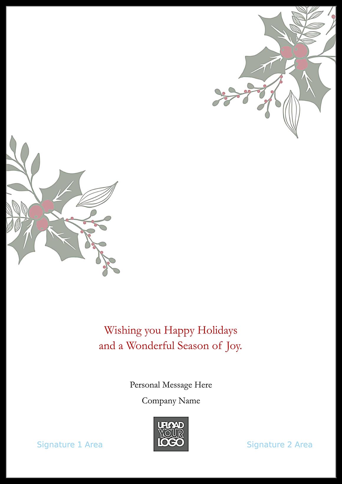 Holiday Missletoe back - Greeting Cards Maker