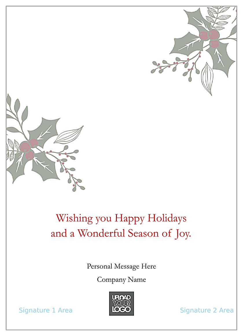 Holiday Missletoe back - Greeting Cards Maker