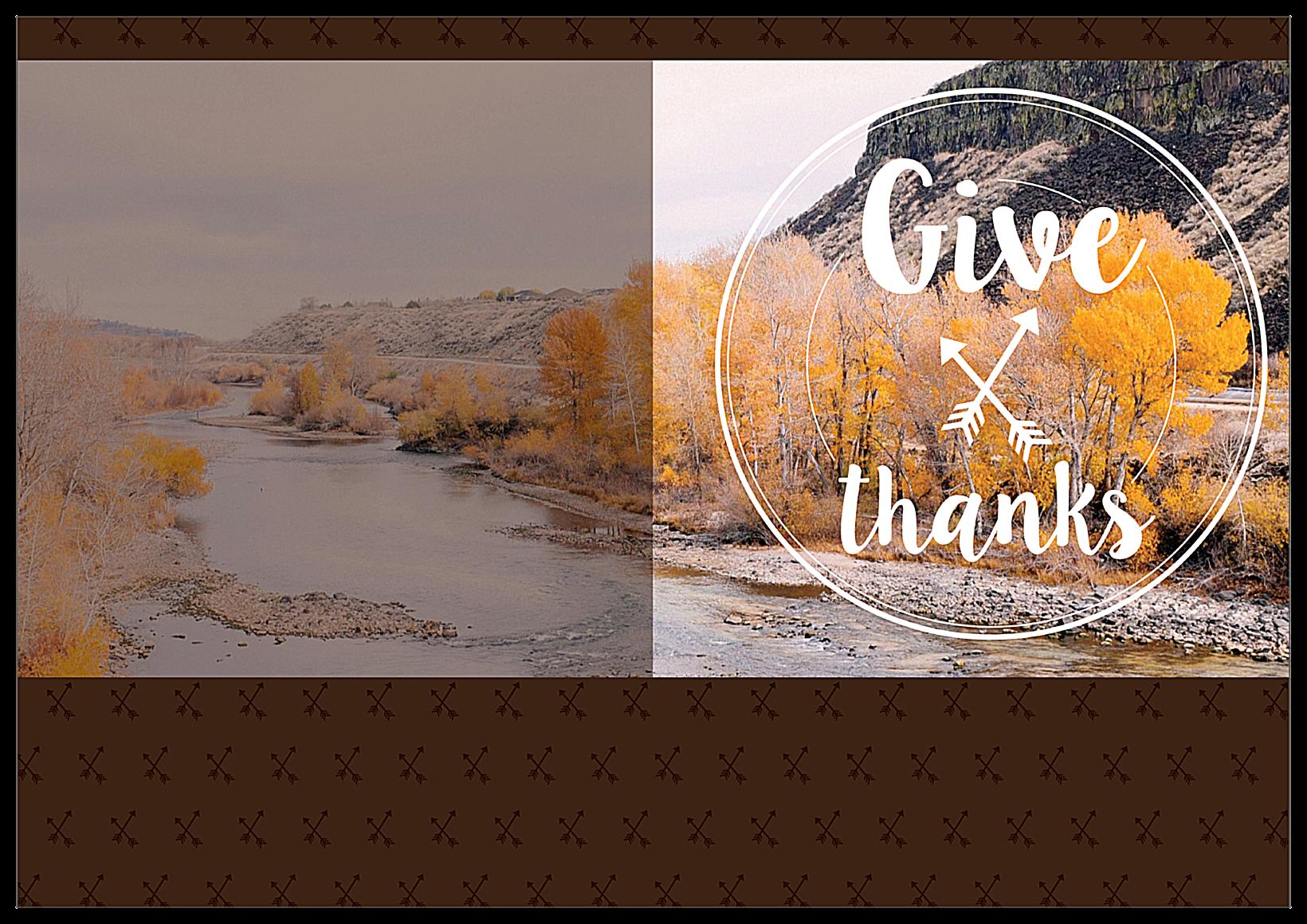 Autumnal Gratitude front - Greeting Cards Maker