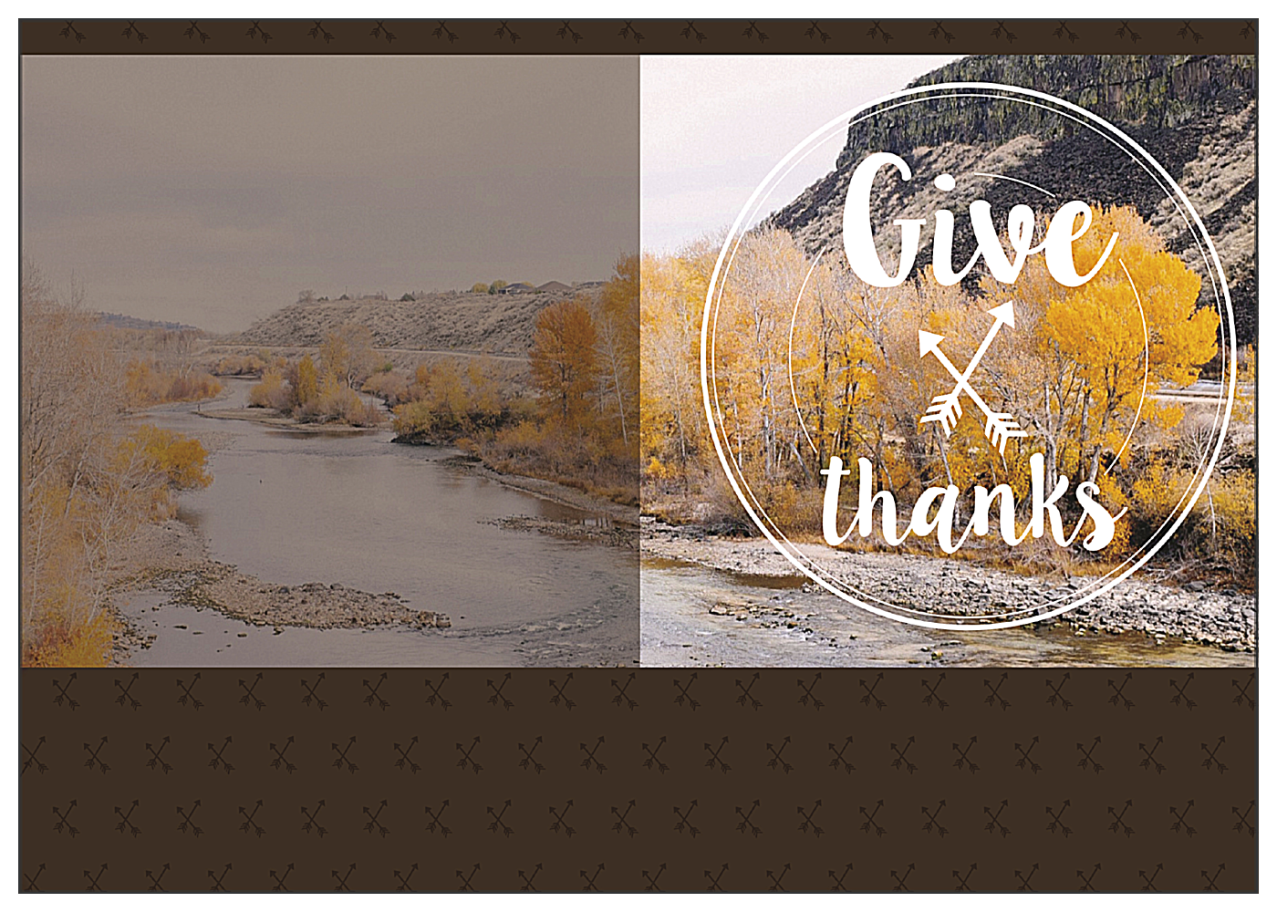 Autumnal Gratitude front - Greeting Cards Maker