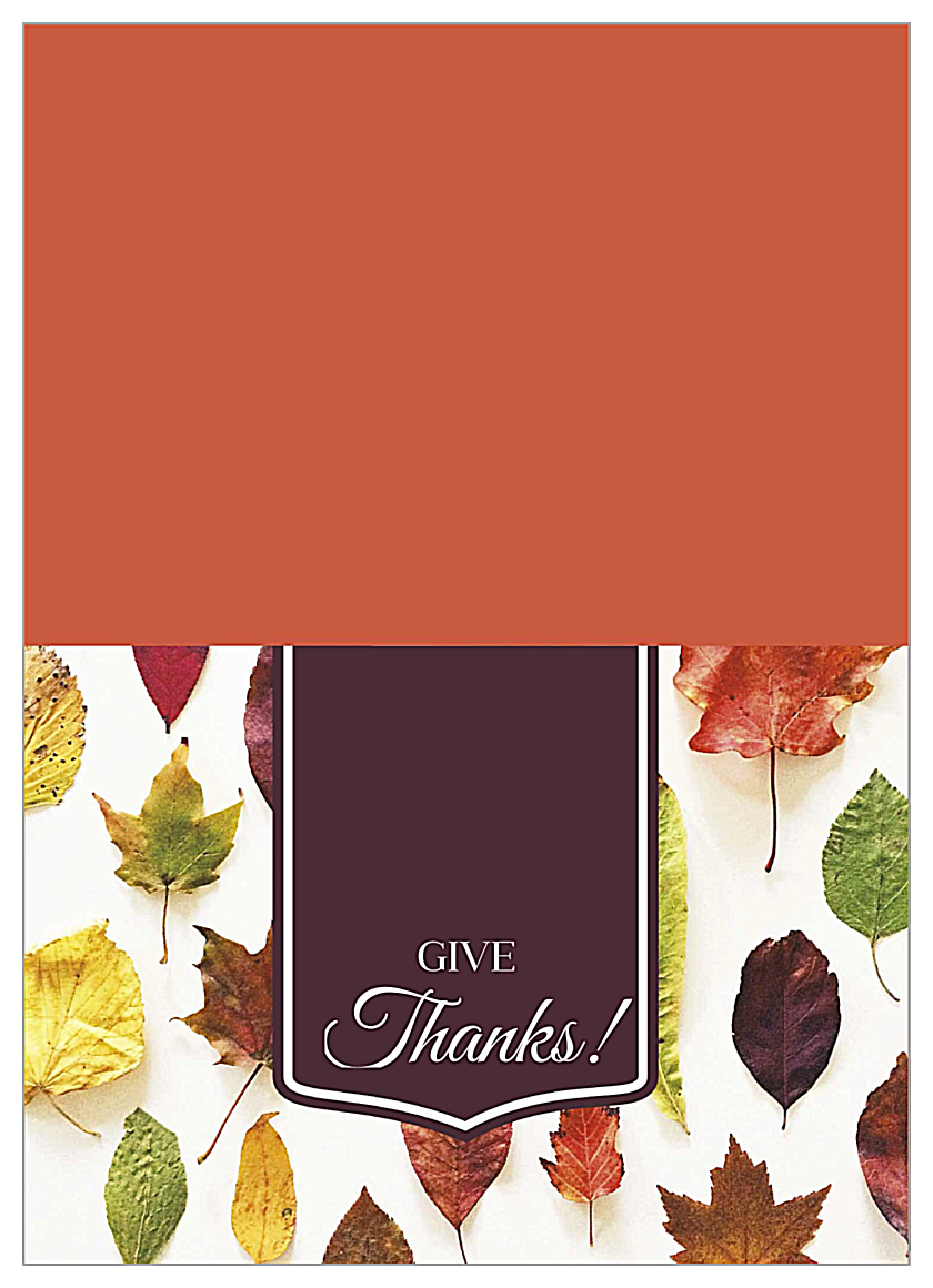 Autumn Leaves front - Greeting Cards Maker