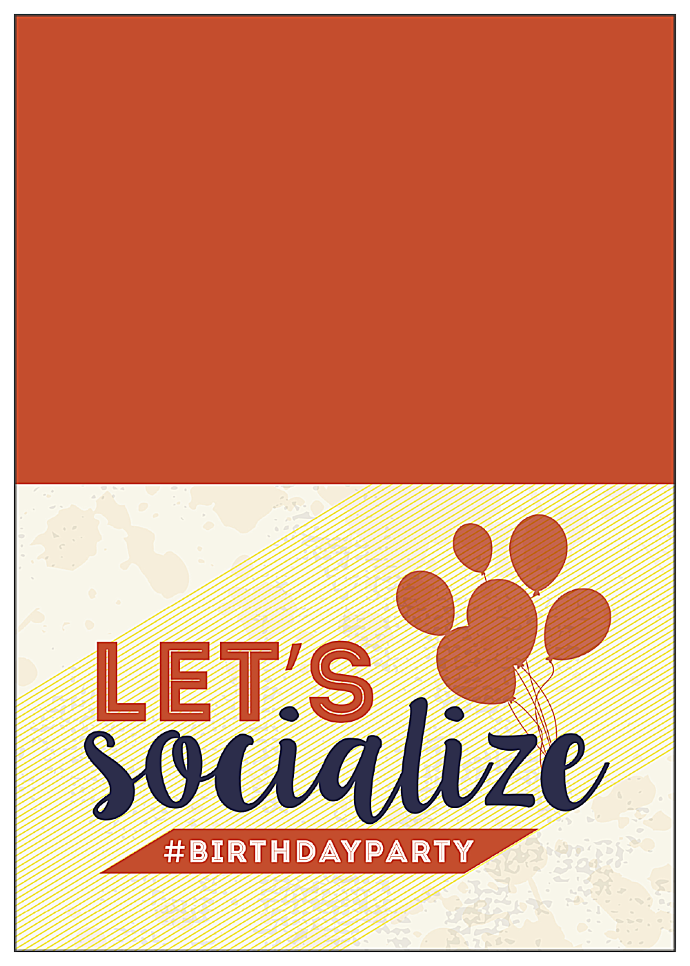 Social Birthday front - Greeting Cards Maker