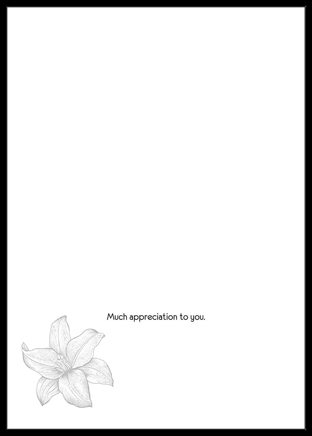 Lily Flower Thanks back - Greeting Cards Maker