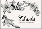 Lily Flower Thanks - greeting-cards Maker