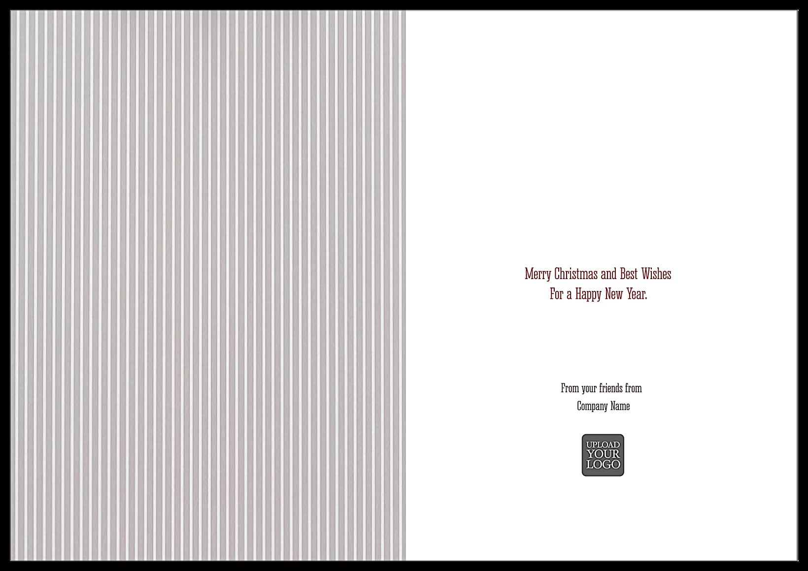Striped Joy back - Greeting Cards Maker