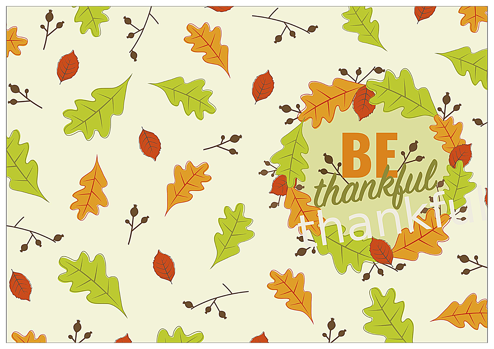 Leaves of fall front - Greeting Cards Maker