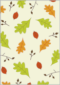 Leaves of fall - greeting-cards Maker