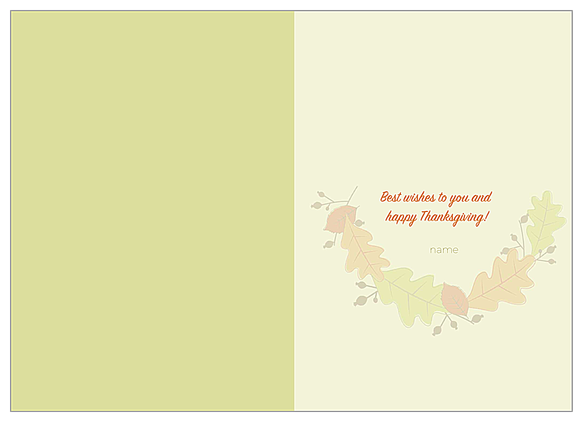Leaves of fall back - Greeting Cards Maker