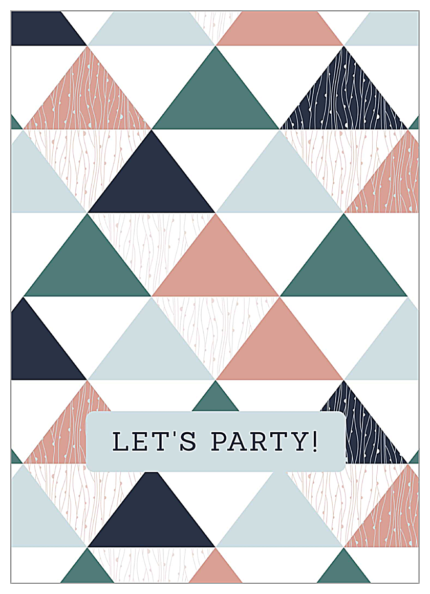 Triangle Party front - Greeting Cards Maker