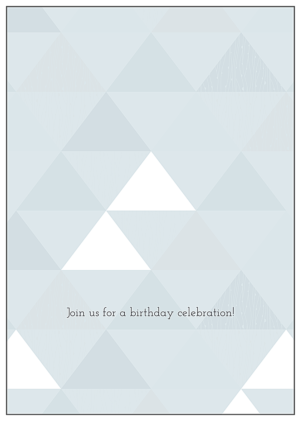Triangle Party back - Greeting Cards Maker