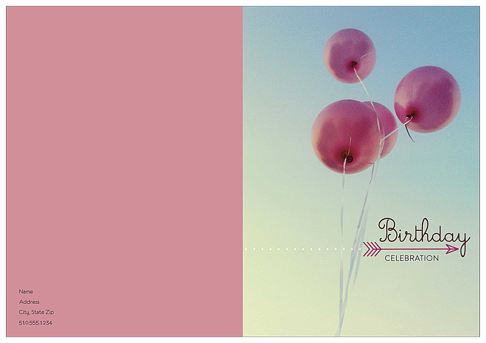 Birthday Balloons front - Greeting Cards Maker