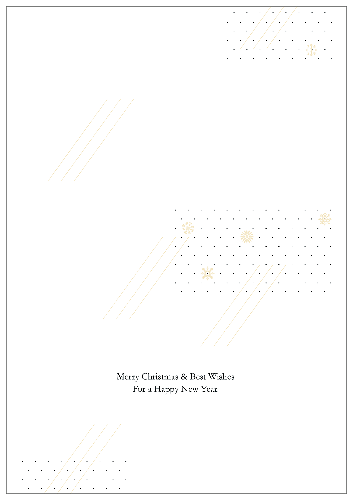 Snowflake Joy back - Greeting Cards Maker