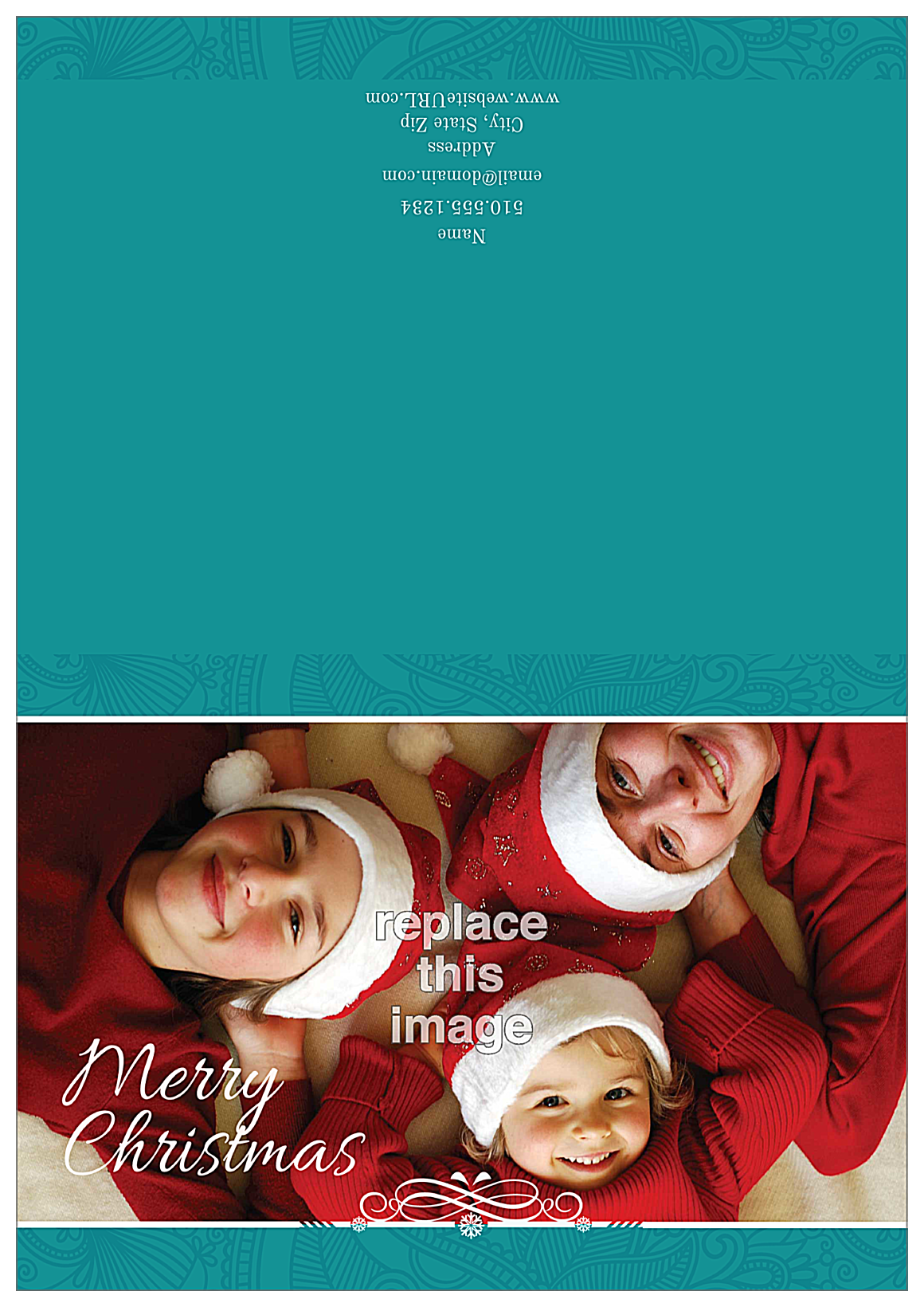 Merry Family front - Greeting Cards Maker