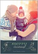 Swirly Christmas - greeting-cards Maker