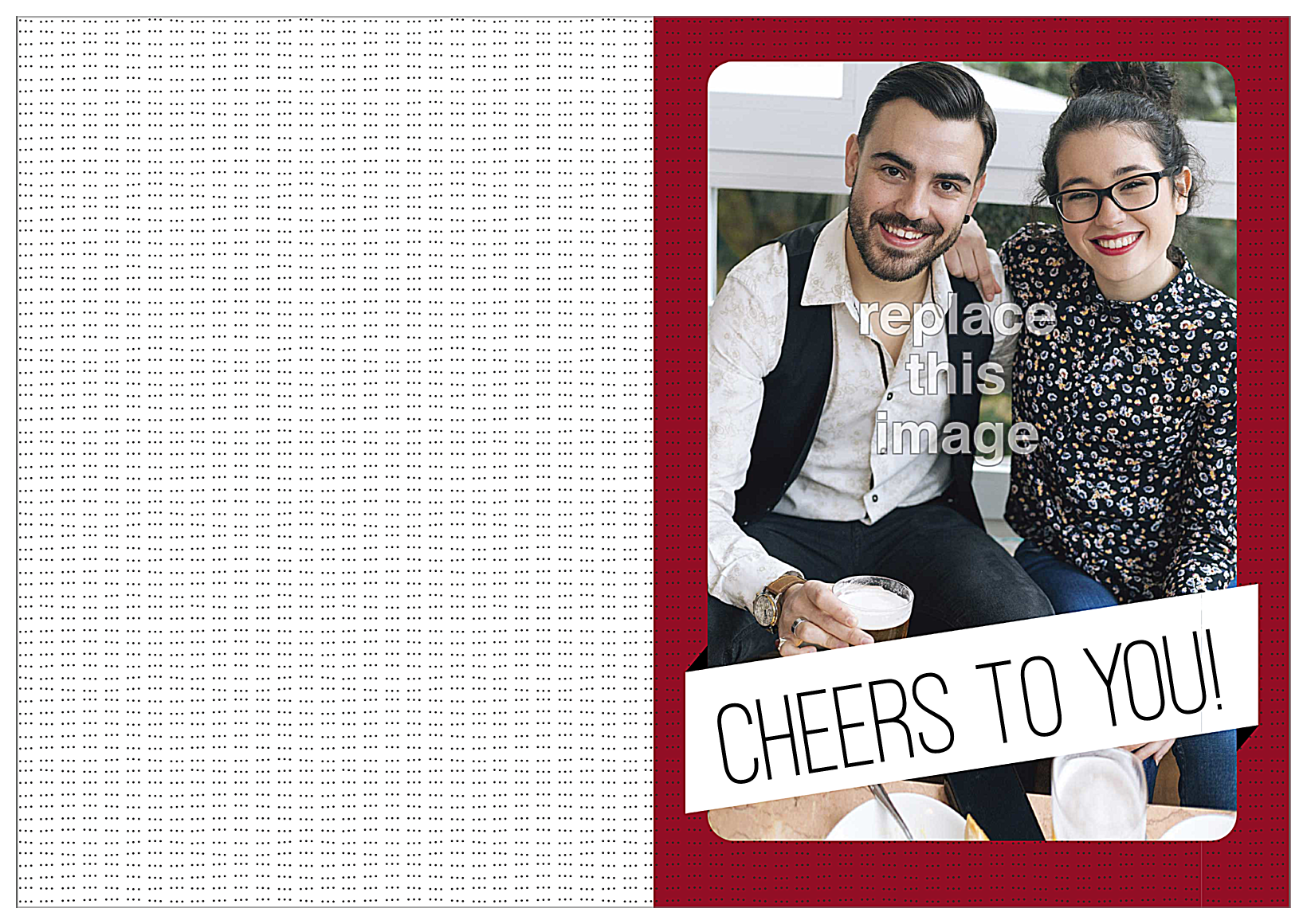 Cheers Banner front - Greeting Cards Maker