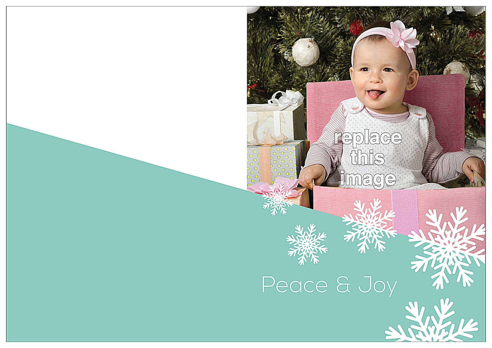 Snow Flake front - Greeting Cards Maker
