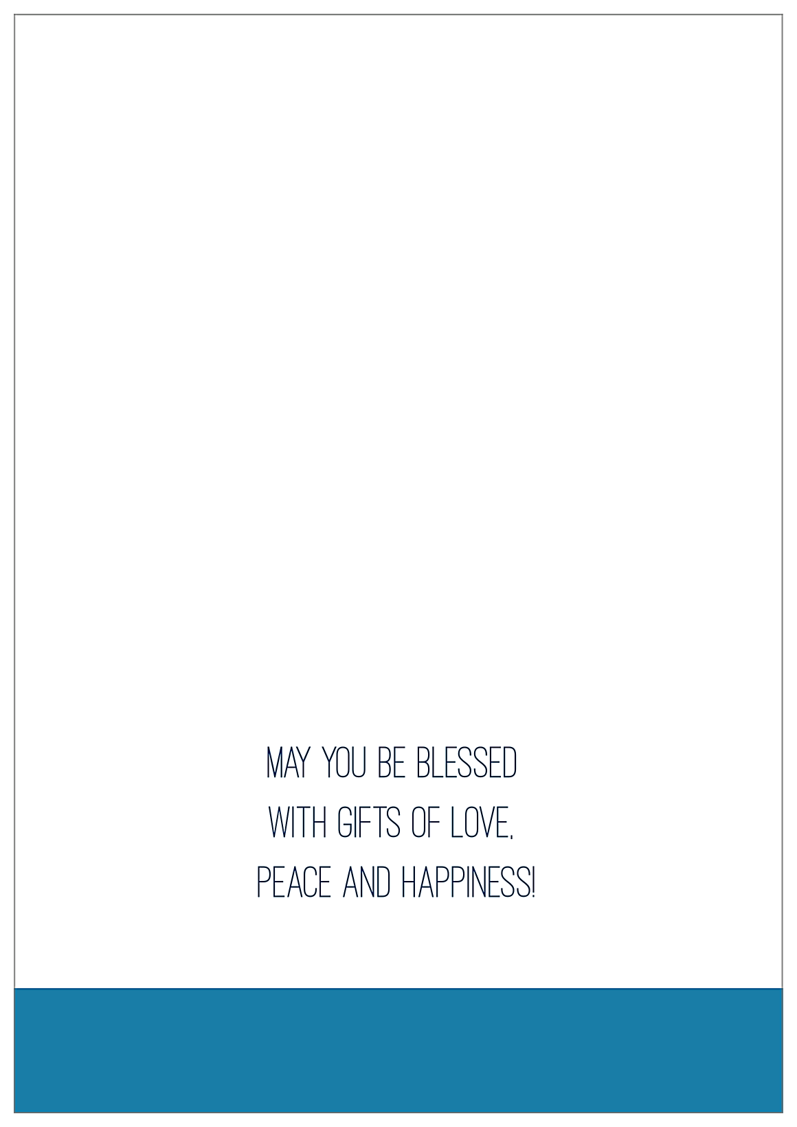 Blessings for Hanukkah back - Greeting Cards Maker