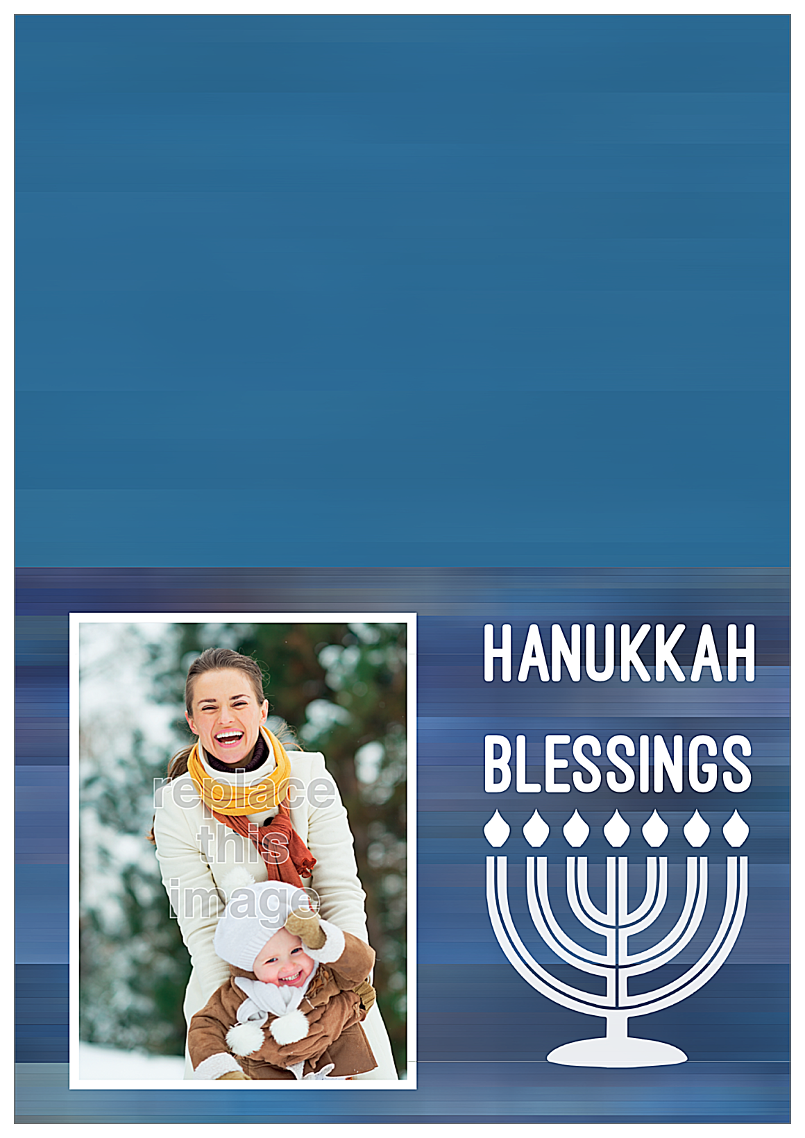 Blessings for Hanukkah front - Greeting Cards Maker