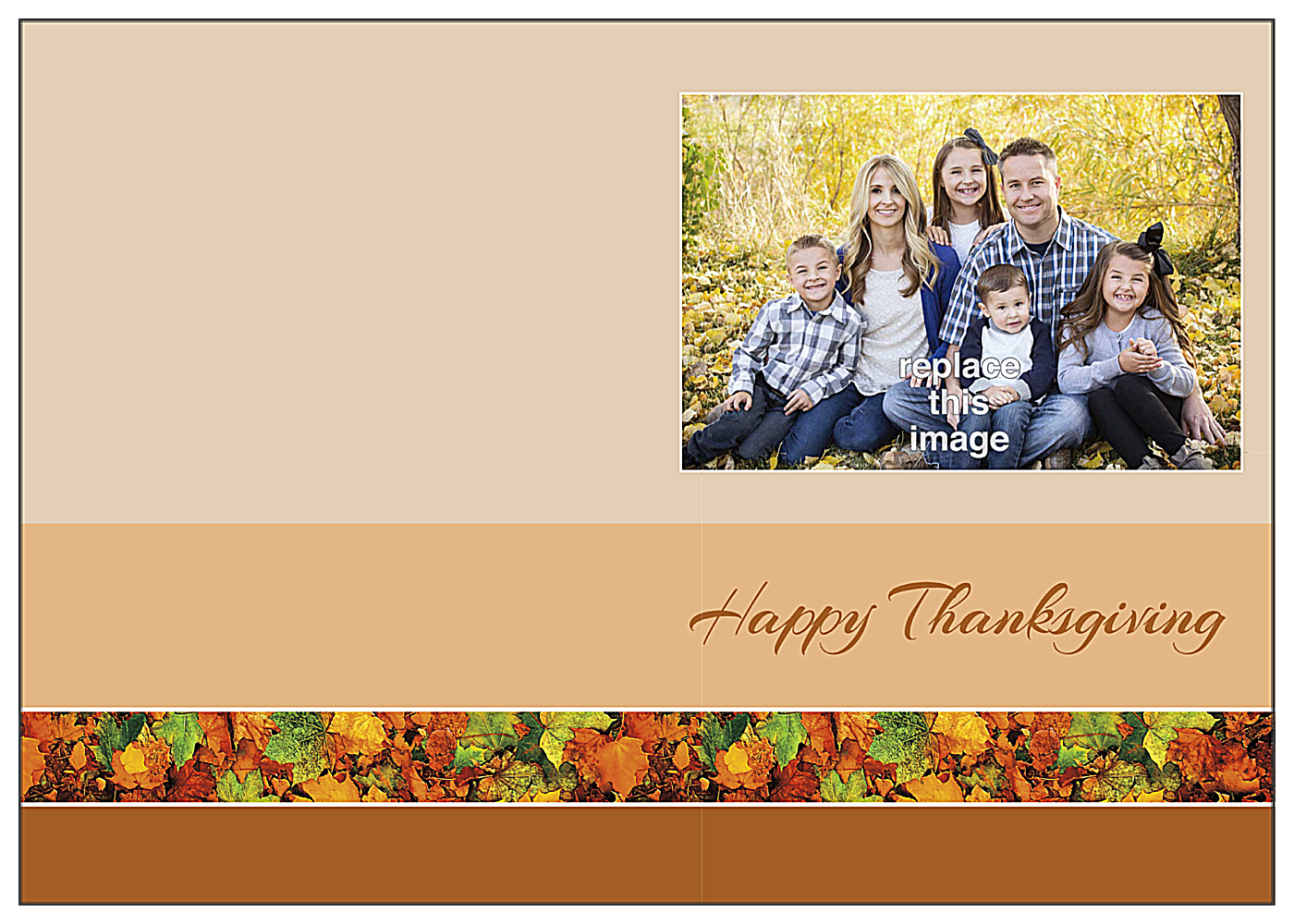 Family leaves front - Greeting Cards Maker