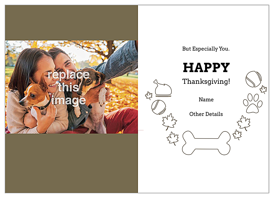 Thankful Pup back - Greeting Cards Maker