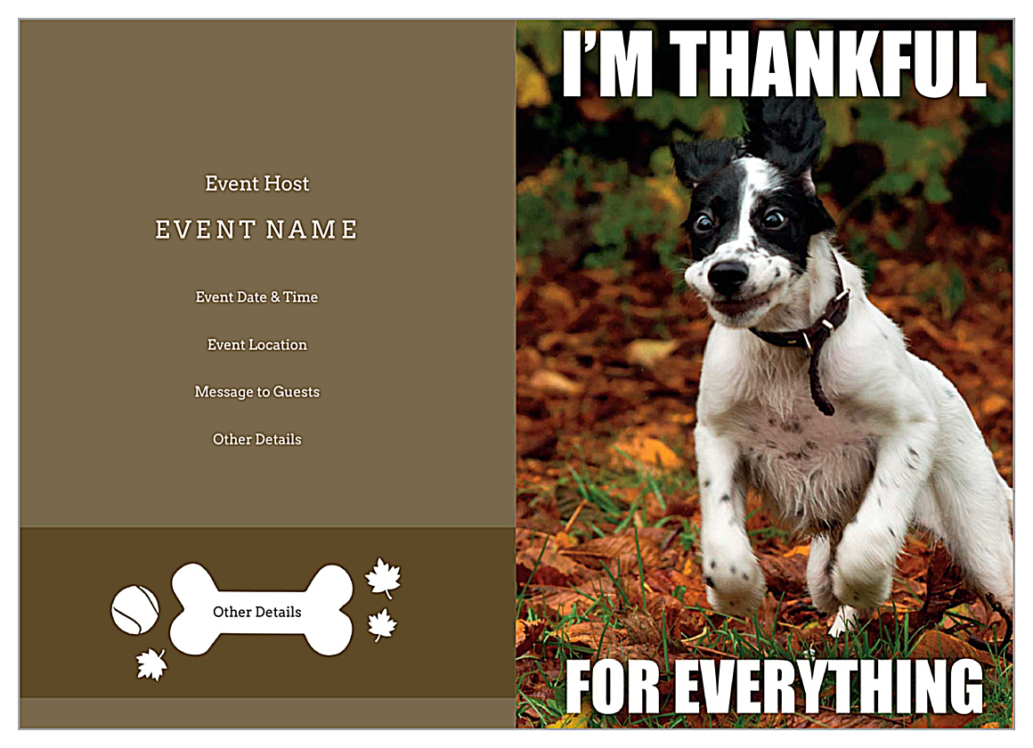Thankful Pup front - Greeting Cards Maker