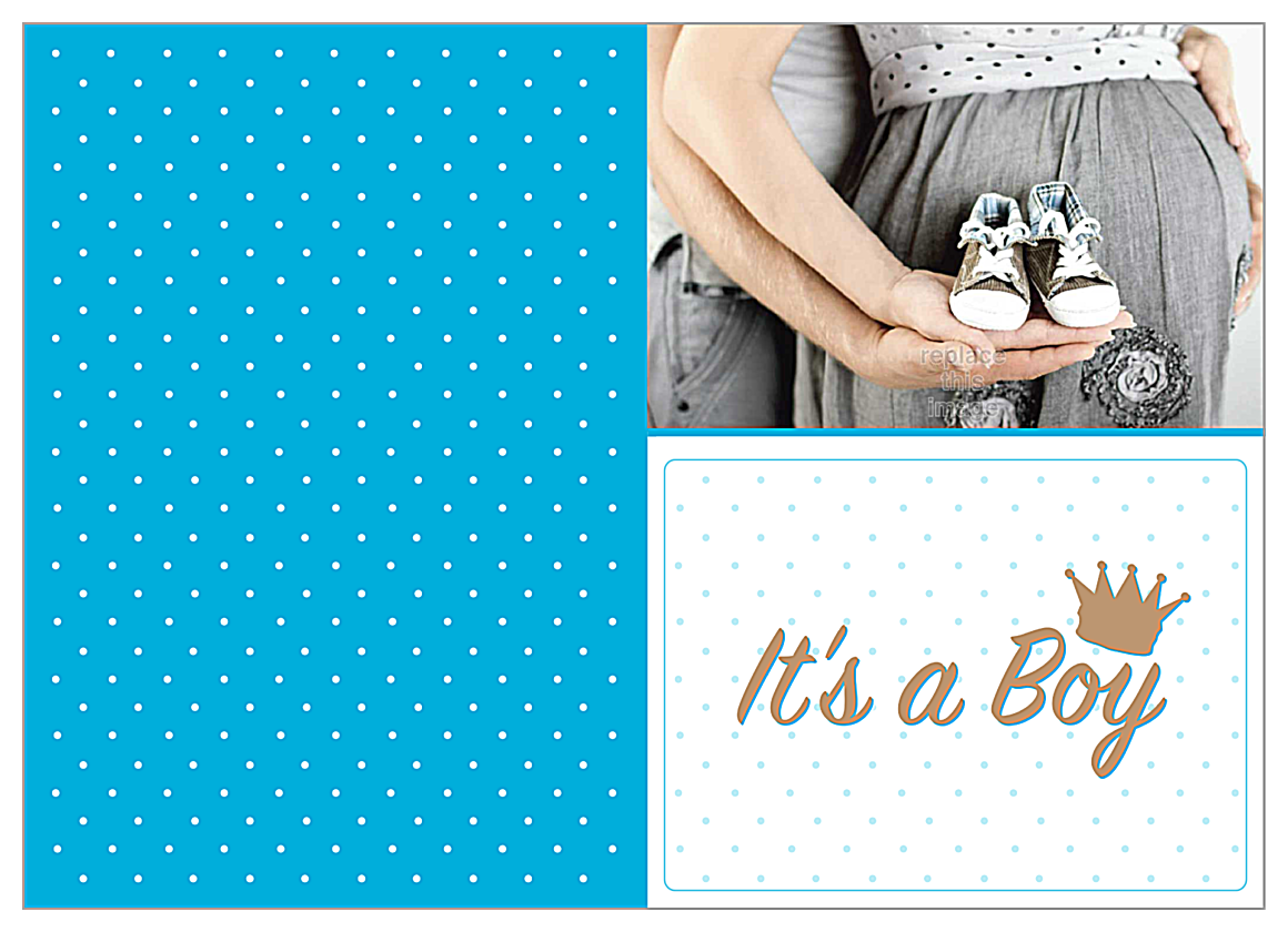 Baby Shoes front - Greeting Cards Maker