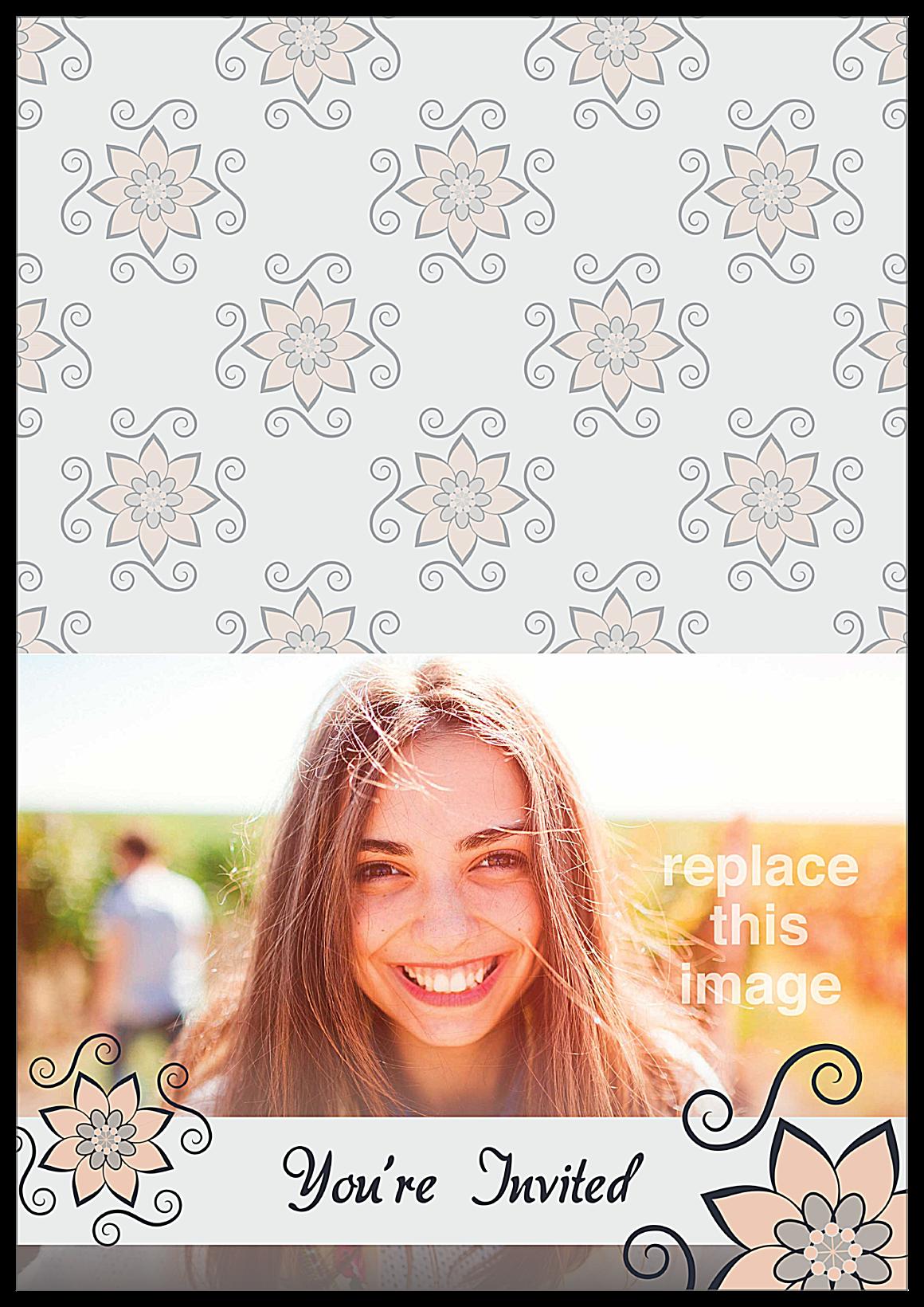Flower Swirls front - Greeting Cards Maker