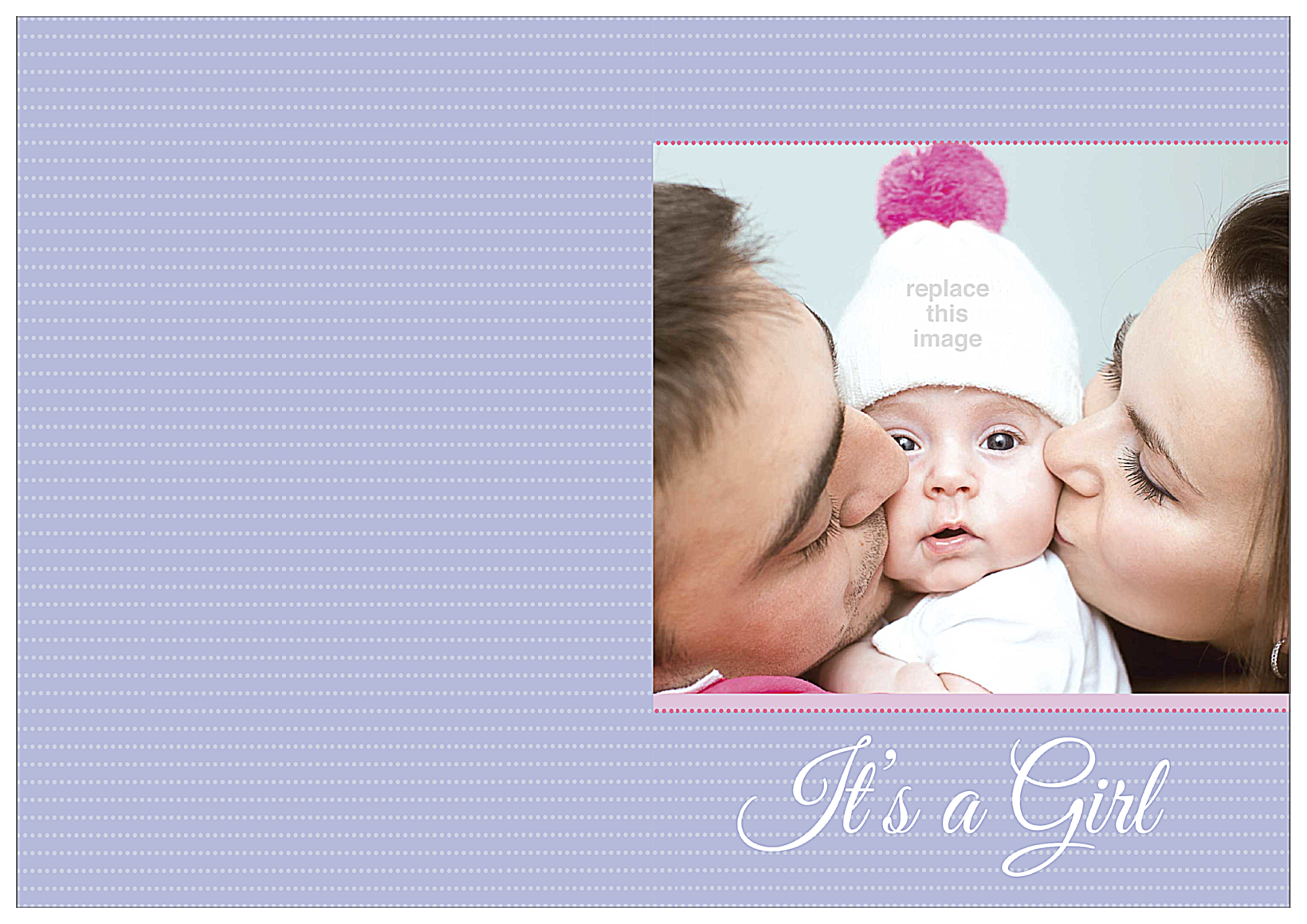 Baby Kisses front - Greeting Cards Maker