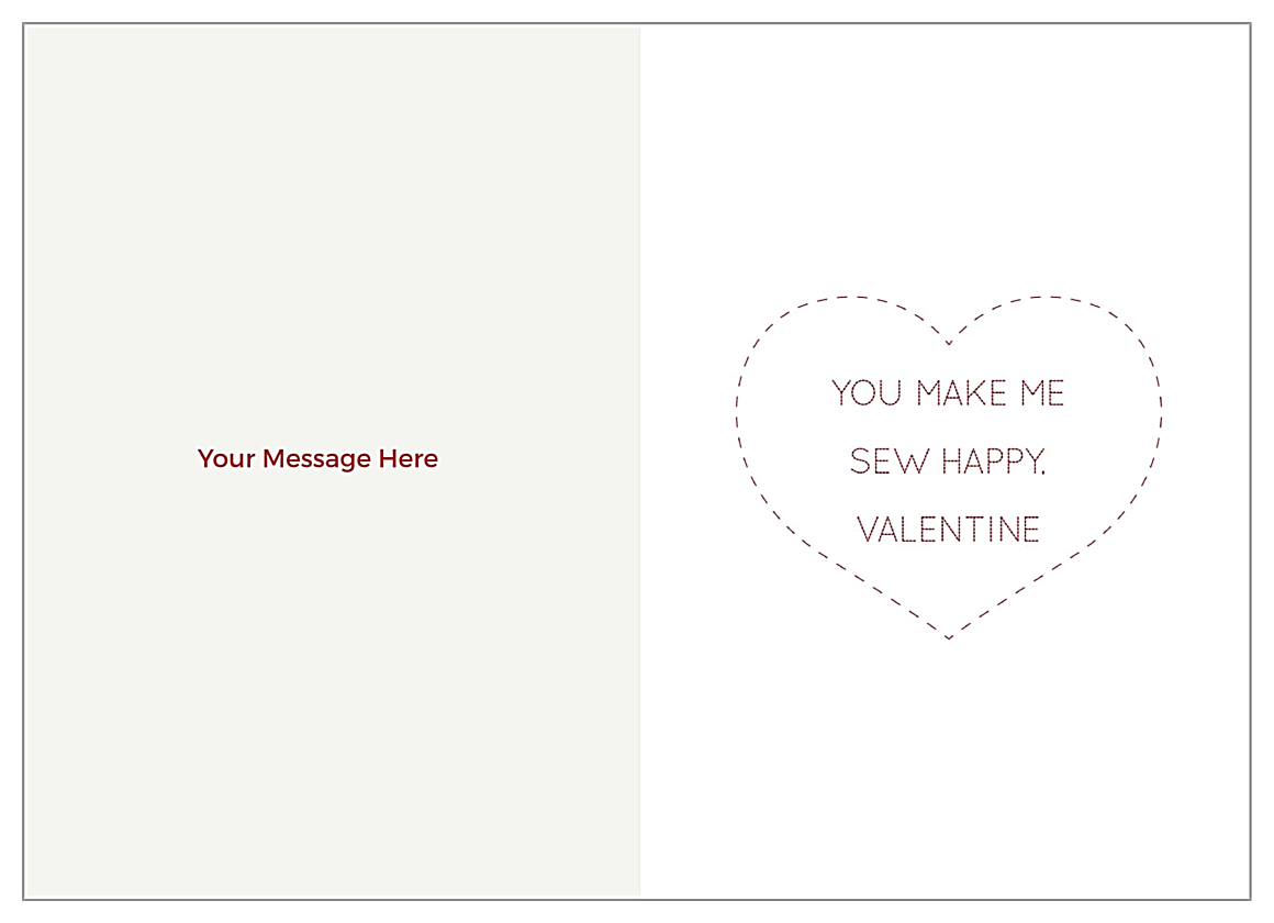 Valentine Stitch back - Greeting Cards Maker