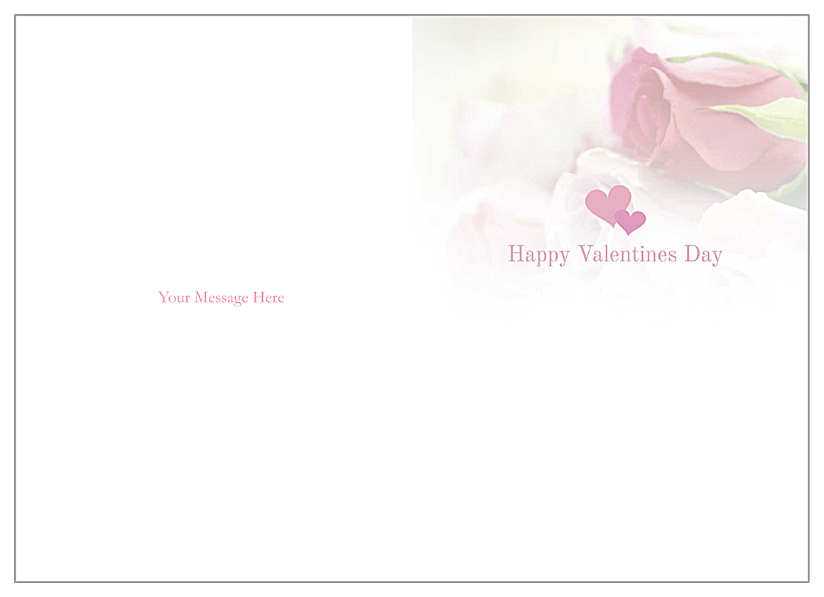 Valentine Roses back - Greeting Cards Maker