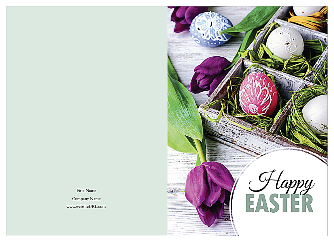 Tulips for Easter front - Greeting Cards Maker