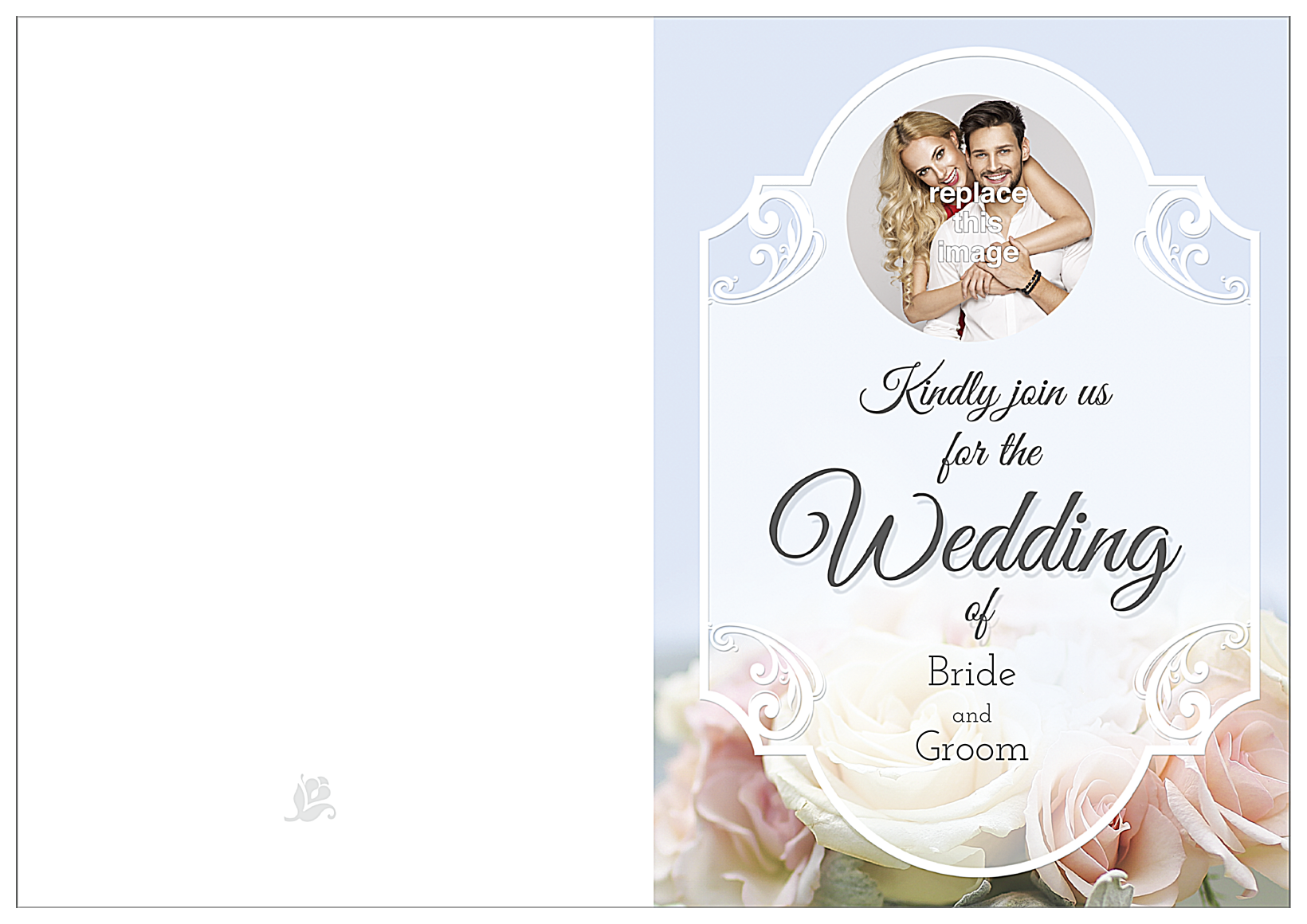 Floral Wedding front - Greeting Cards Maker