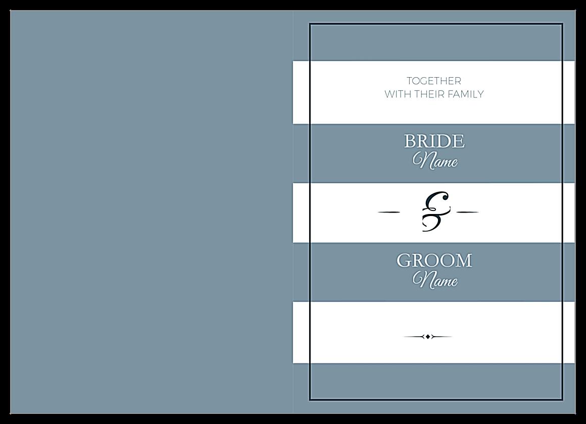 Wedding Stripes front - Greeting Cards Maker