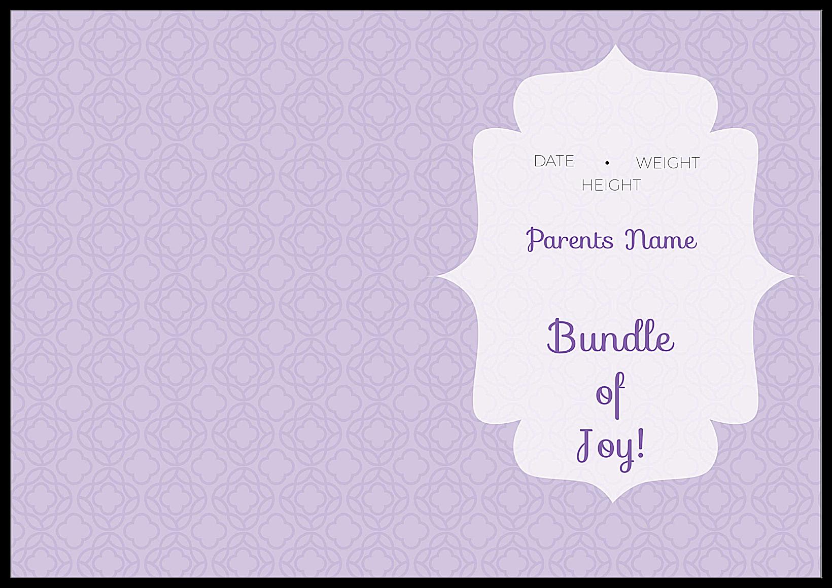 Bundle of Joy back - Greeting Cards Maker