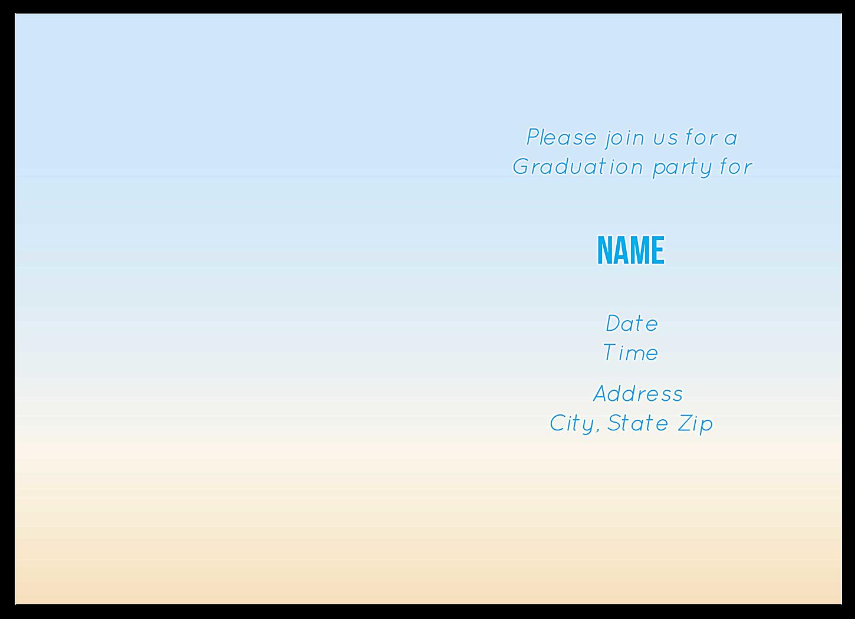 Grad Cap Party back - Greeting Cards Maker