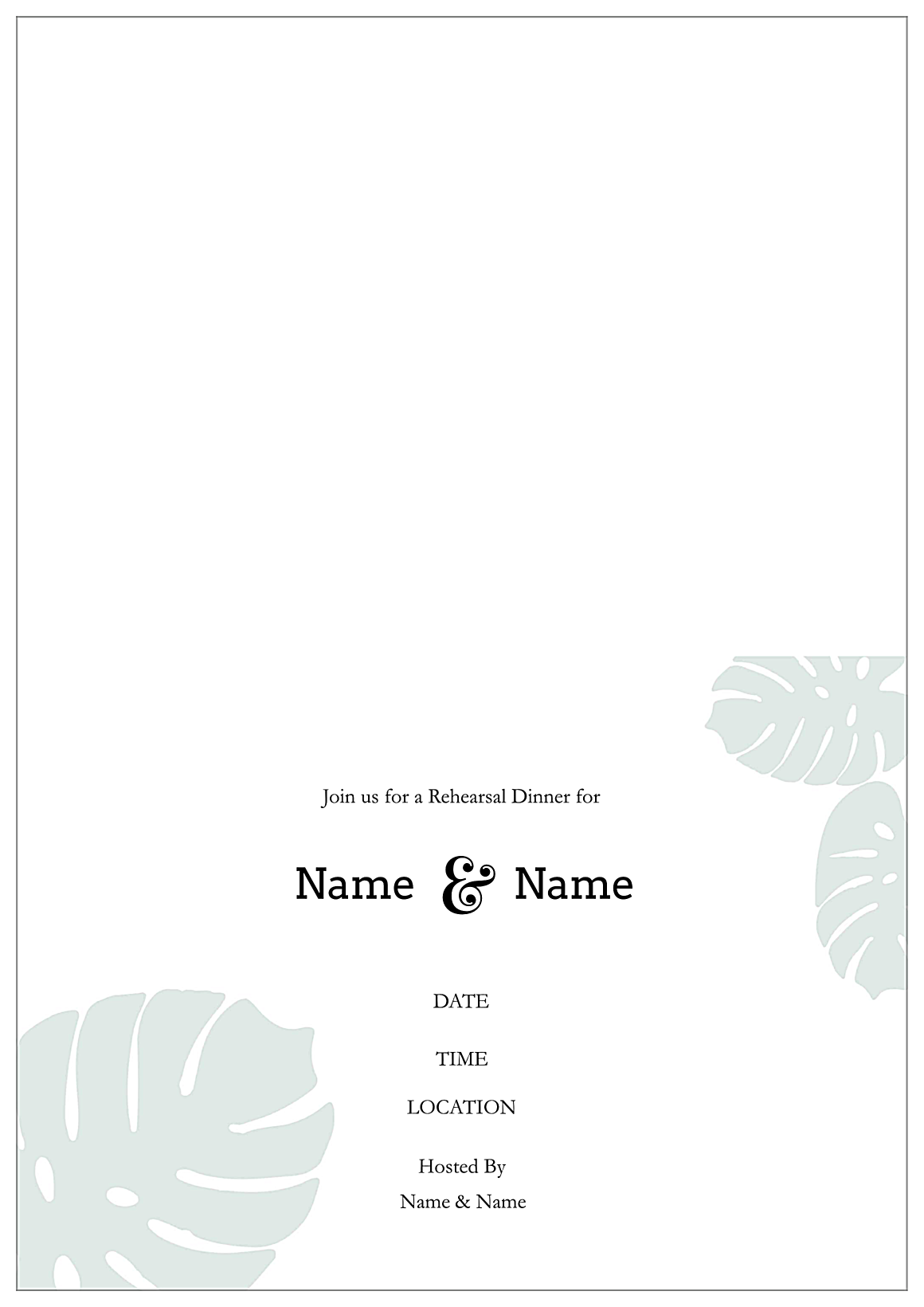 Rehearse Your Lines back - Greeting Cards Maker