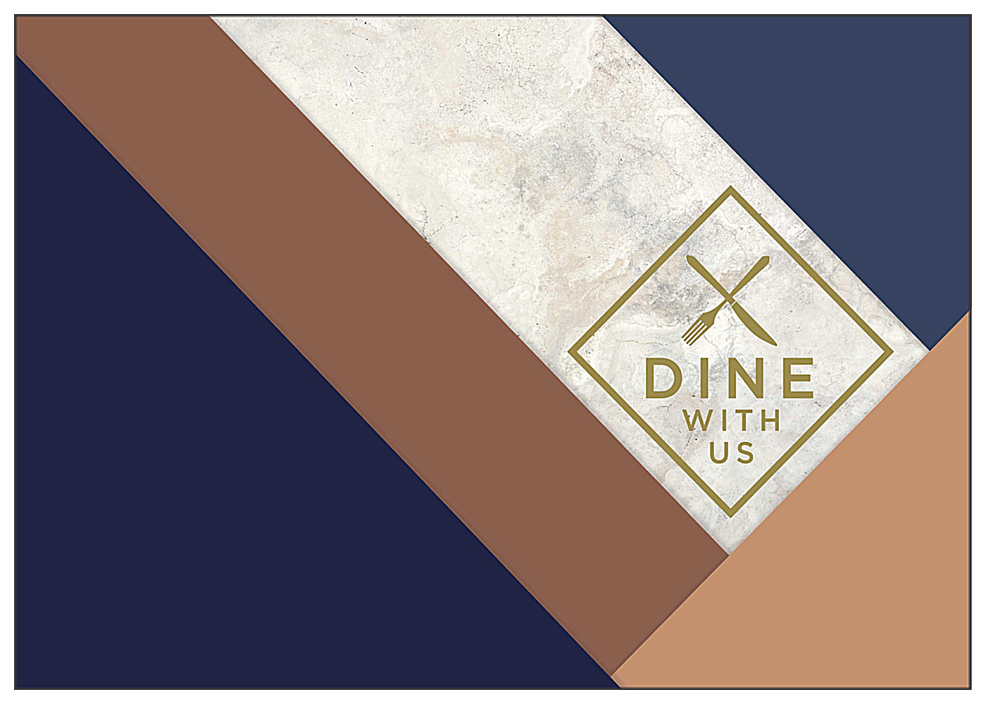 Dine With Us front - Greeting Cards Maker