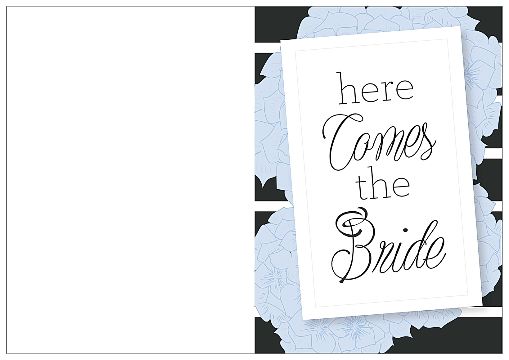 Hydrangea Bridal Shower front - Greeting Cards Maker
