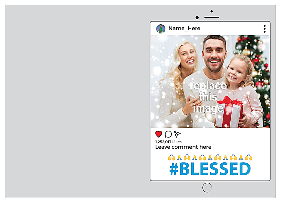 Blessed front - Greeting Cards Maker