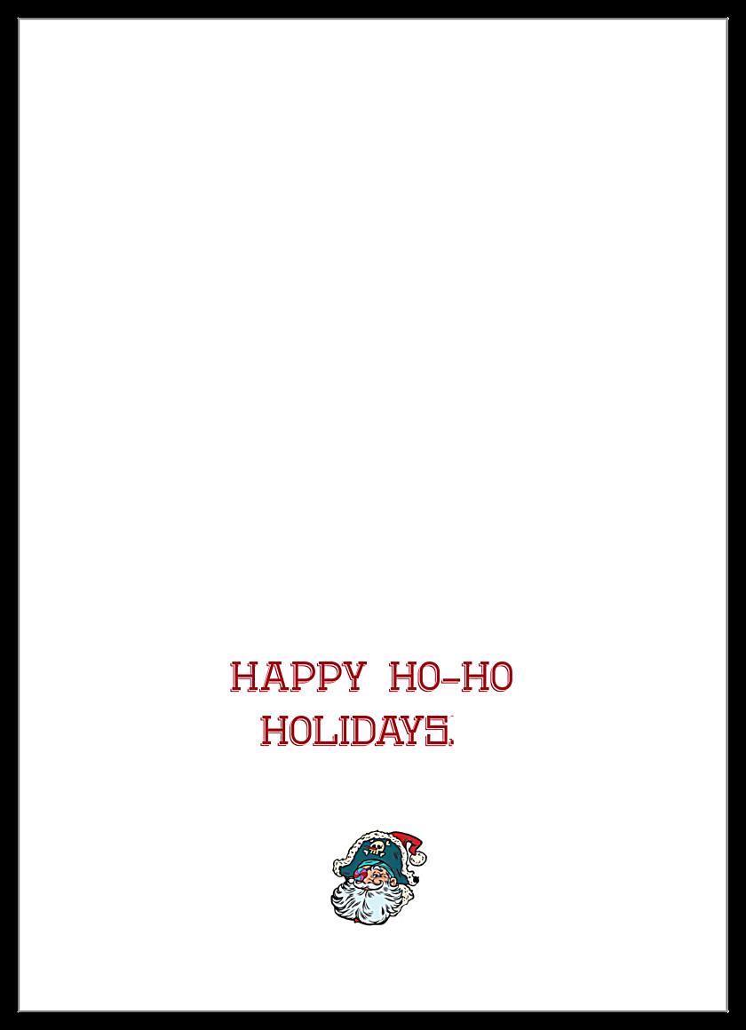 Santa Yo back - Greeting Cards Maker