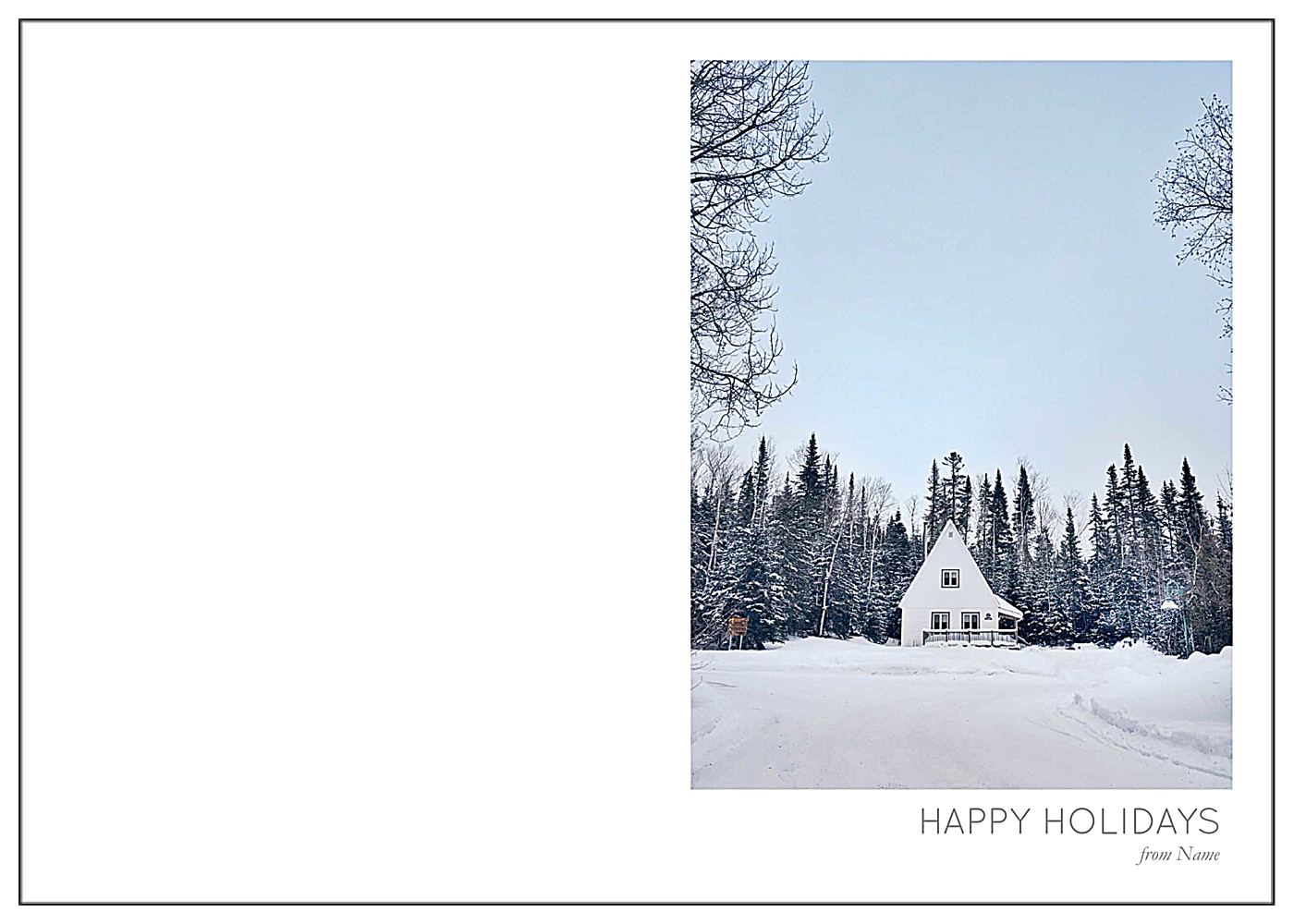 Wintertide Tidings front - Greeting Cards Maker