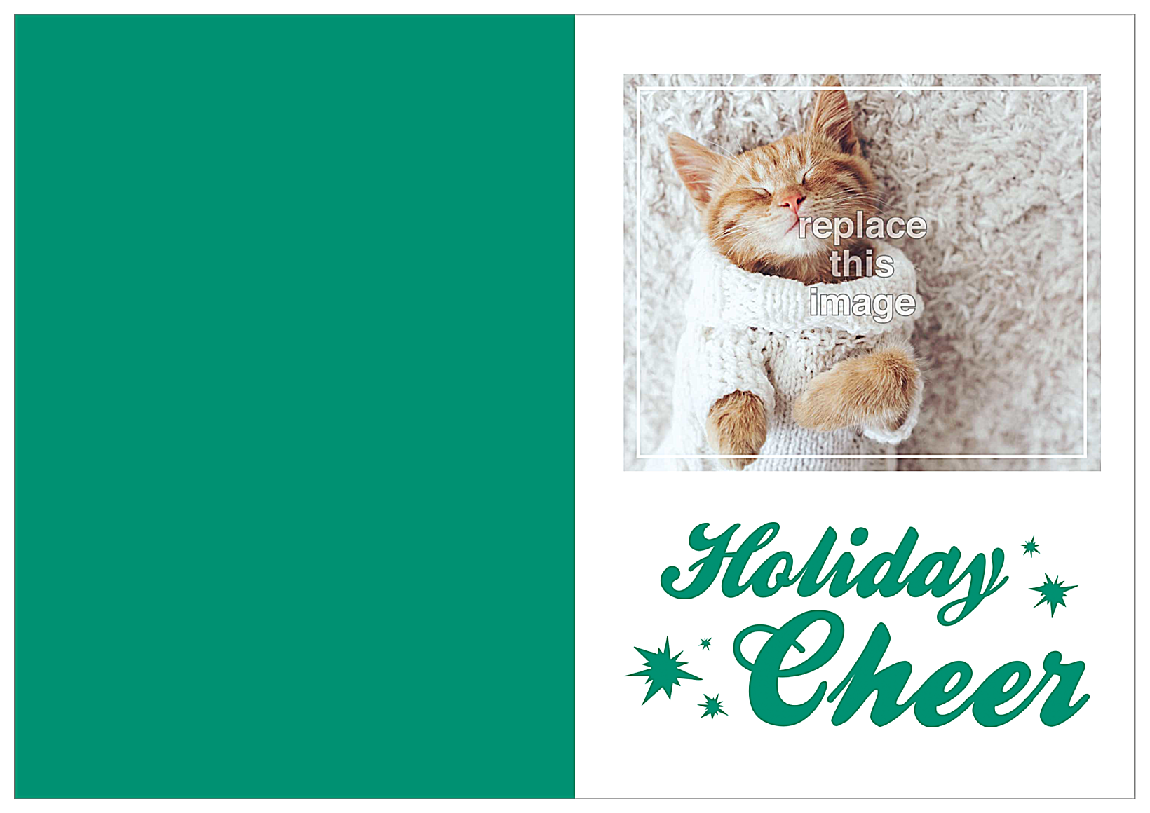 Comfort and Cheer front - Greeting Cards Maker
