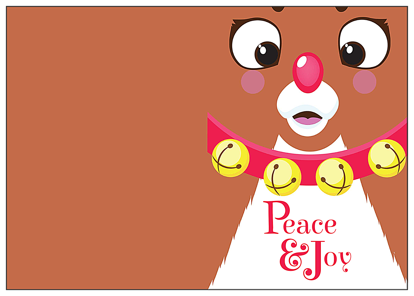 Holiday Friends front - Greeting Cards Maker