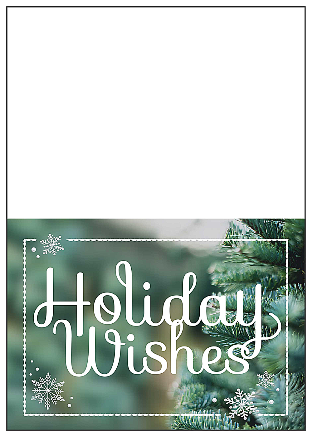 Evergreen Wishes front - Greeting Cards Maker