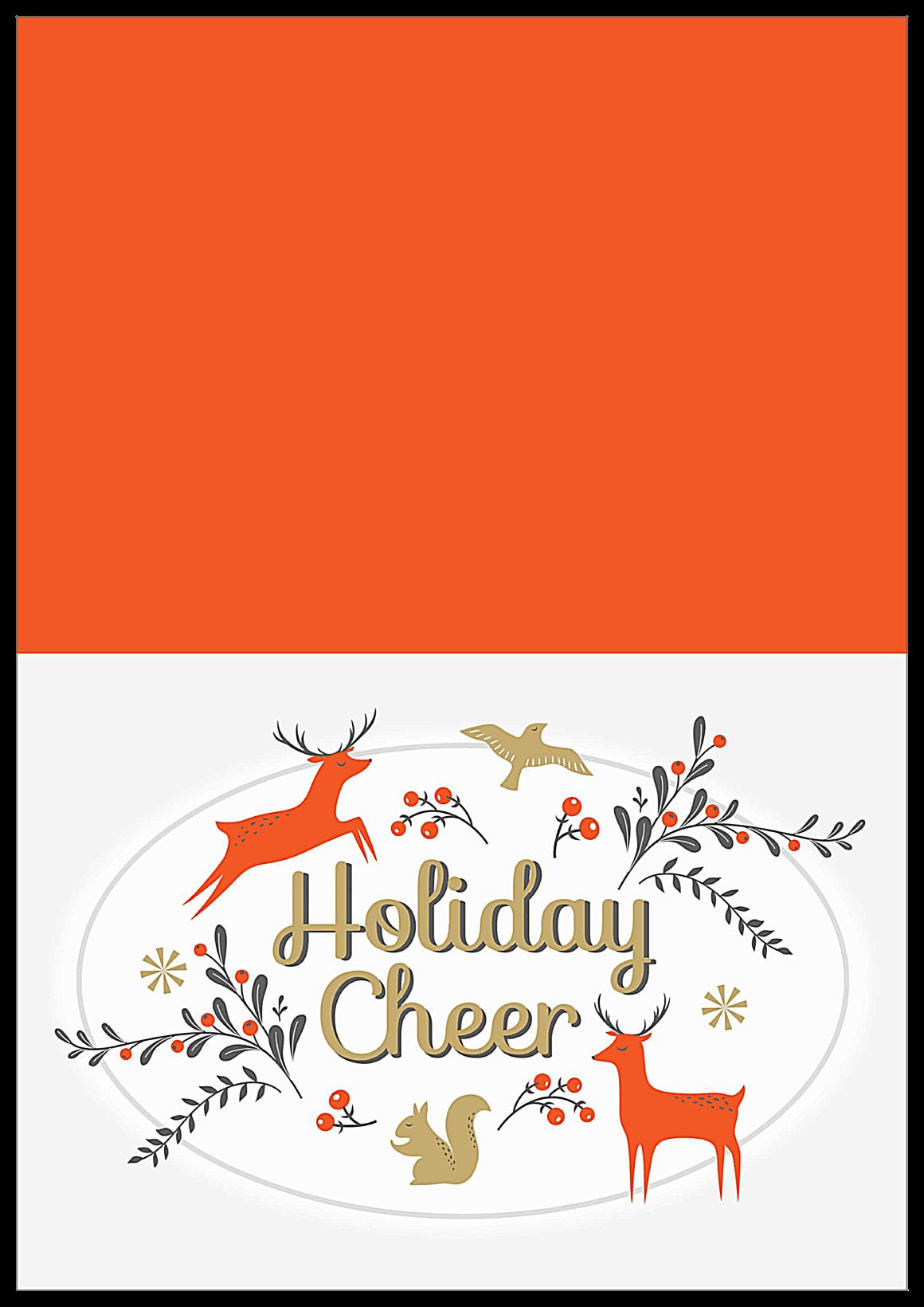Holiday Deer front - Greeting Cards Maker