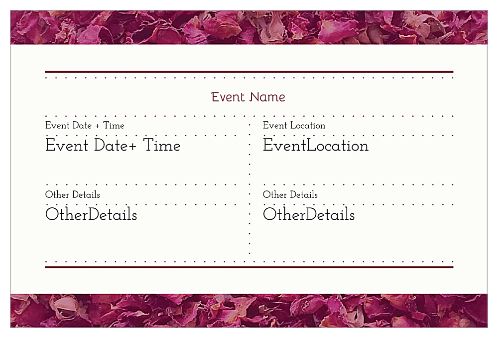 Petal Heart back - Invitation Cards Maker
